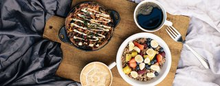 Breakfast in Bed: Greek Socca, by Café Gratitude