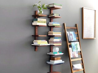 This decorative ladder provides an interesting way to showcase your belongings; Source: Zola