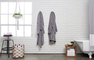 Classic Bathrobes, for lounging before or after your bathing rituals; Source: Nicole LaMotte/Parachute
