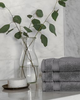 Dedicate a few complete sets of Parachute's Classic Towels for guests' use only; Source: Nicole LaMotte/Parachute