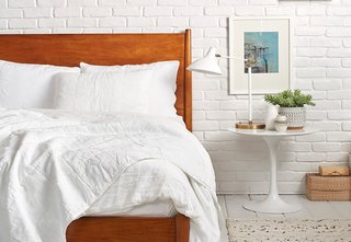 White on white for a clean and refreshing space is how our Creative Director, Amy Hoban, styles her Quilt; Source: Nicole LaMotte/Parachute