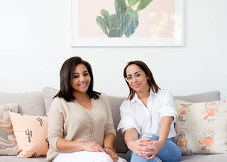Roommates Trelawny Davis and Jackie Sosa in their newly designed L.A. pad; Source: Amy Bartlam/Parachute