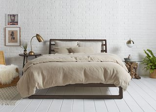 Toast on Toast paired with our Oatmeal Essential Shams for a more monochromatic look; Source: Nicole LaMotte/Parachute