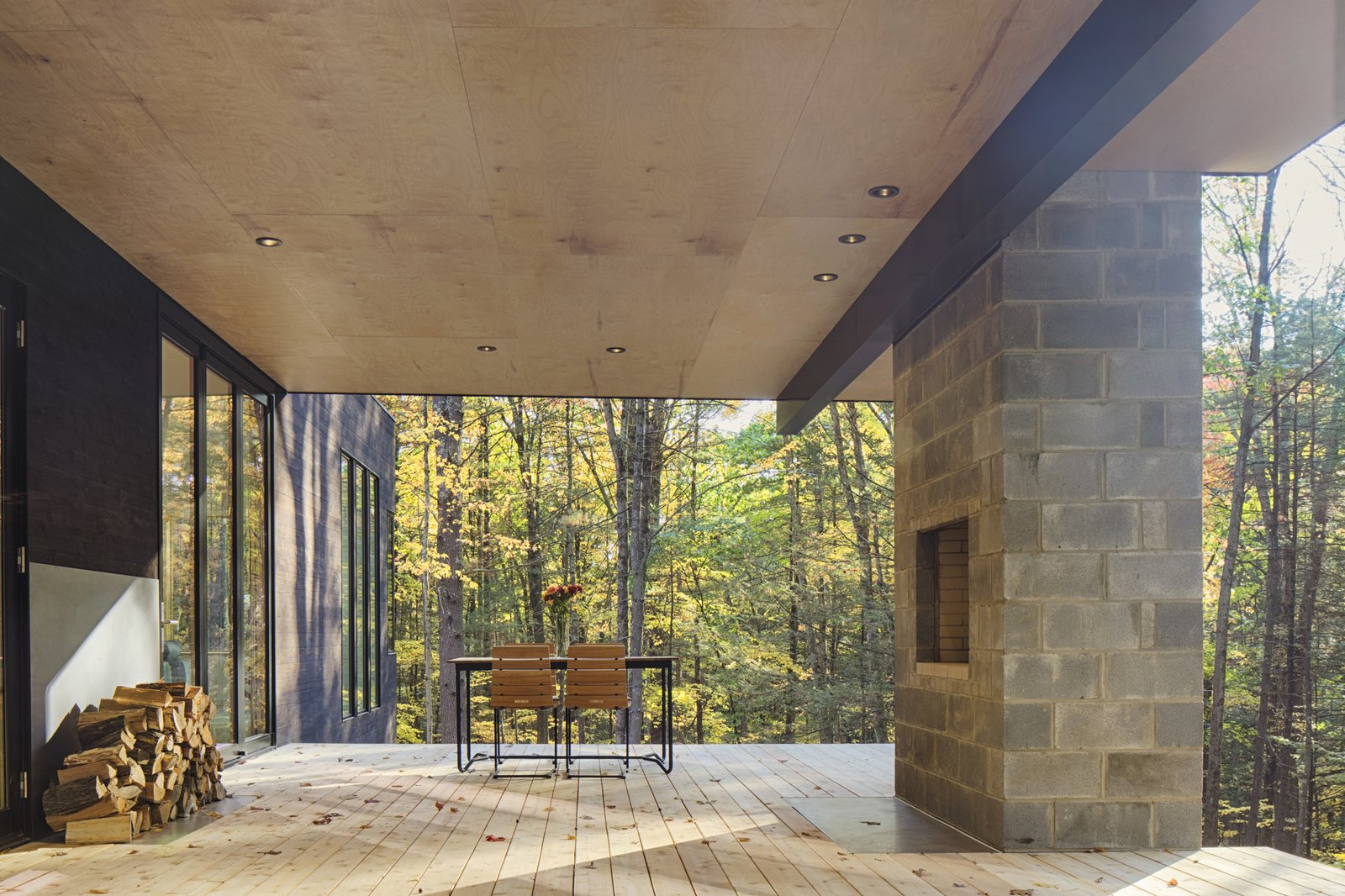 Outdoor, Decking Patio, Porch, Deck, Small Patio, Porch, Deck, Back Yard, Trees, and Wood Patio, Porch, Deck  TinkerBox