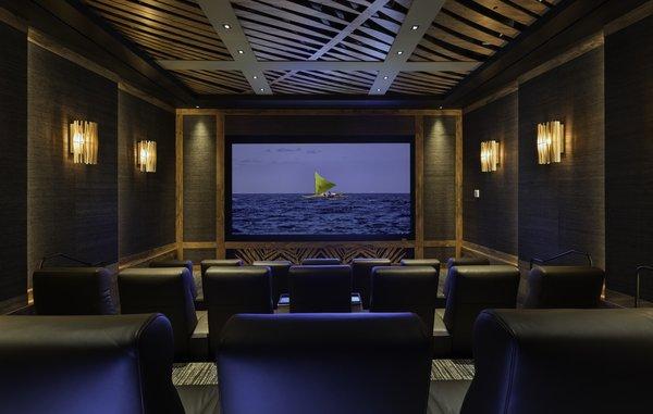 Private 21-seat movie theater.