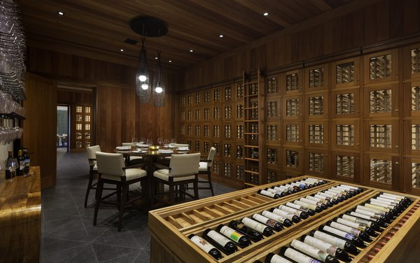 Member wine storage and prized collection.