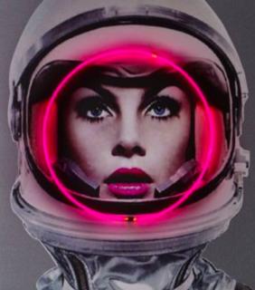 Neon Space Girl art
