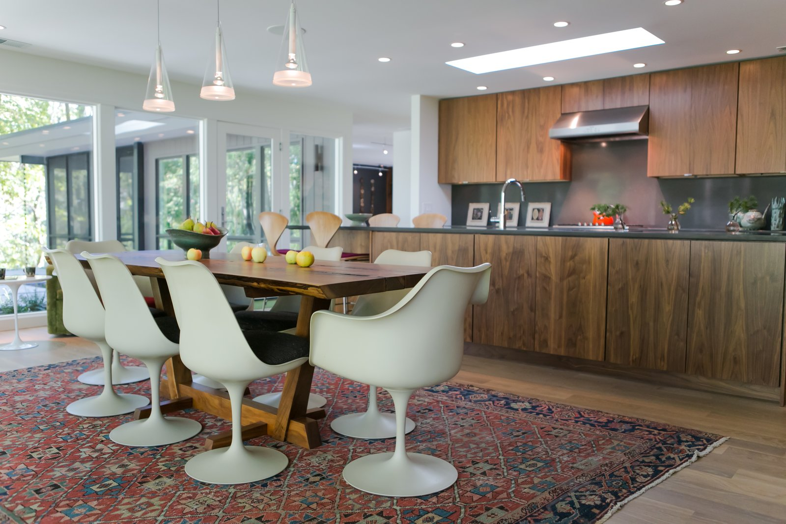 Dining Room, Table, Chair, and Pendant Lighting  Blakely Mid-Century Modern by Mod Abode by Jamie Sangar