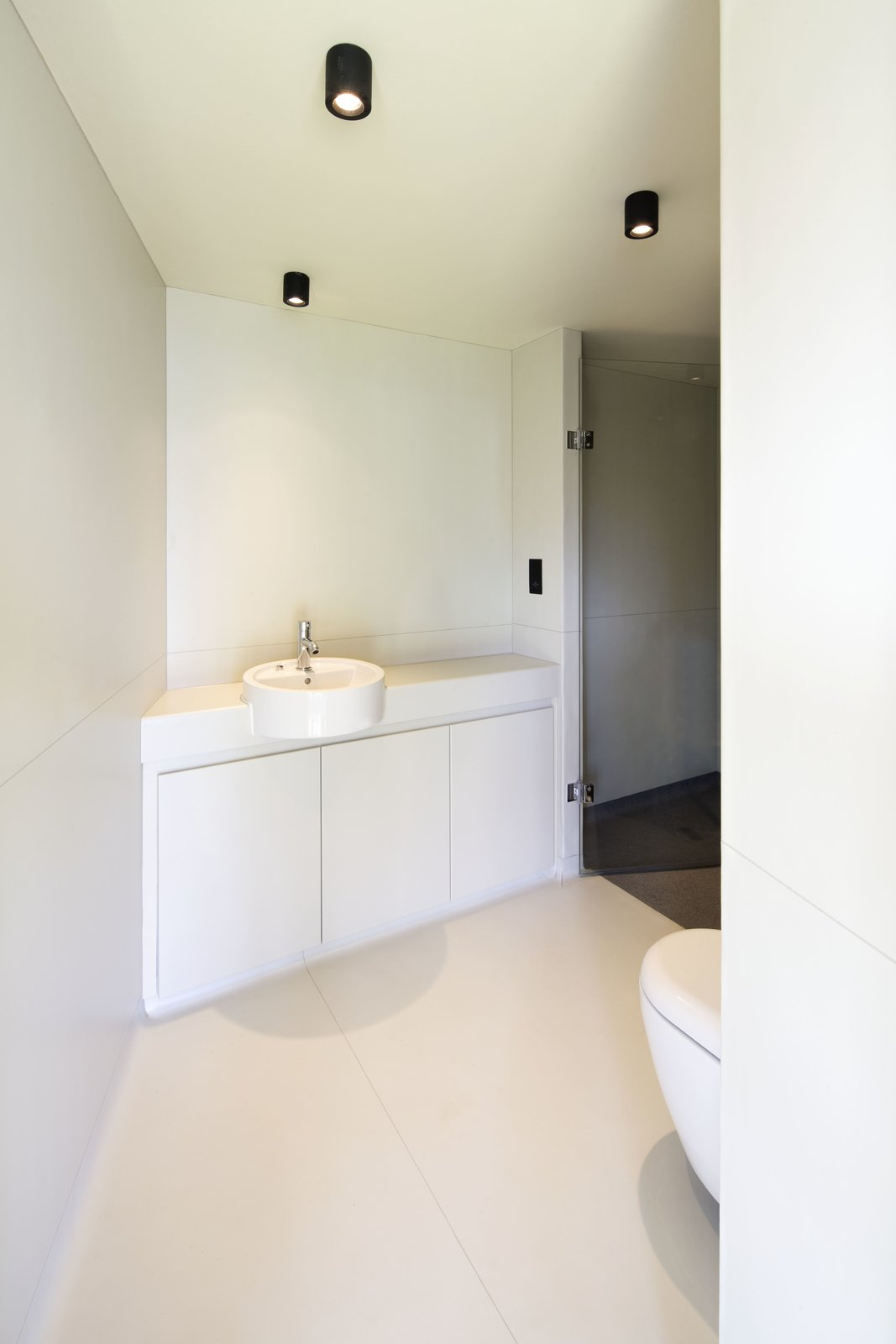 Bath, One Piece, Porcelain Tile, Ceiling, Ceramic Tile, Vessel, Concrete, and Laminate  Best Bath Concrete Ceramic Tile Photos from Bermondsey Street Studio