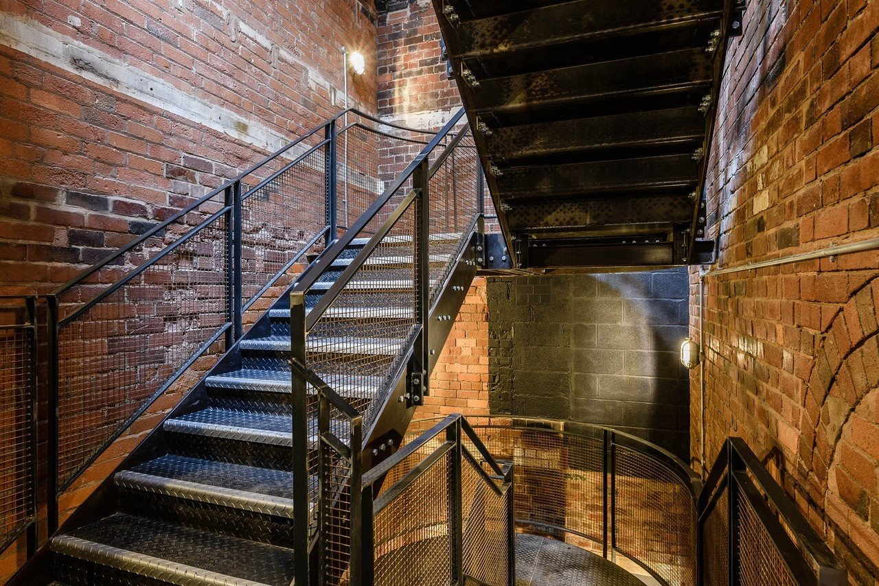 Staircase, Metal Tread, and Metal Railing  Squirrel Works