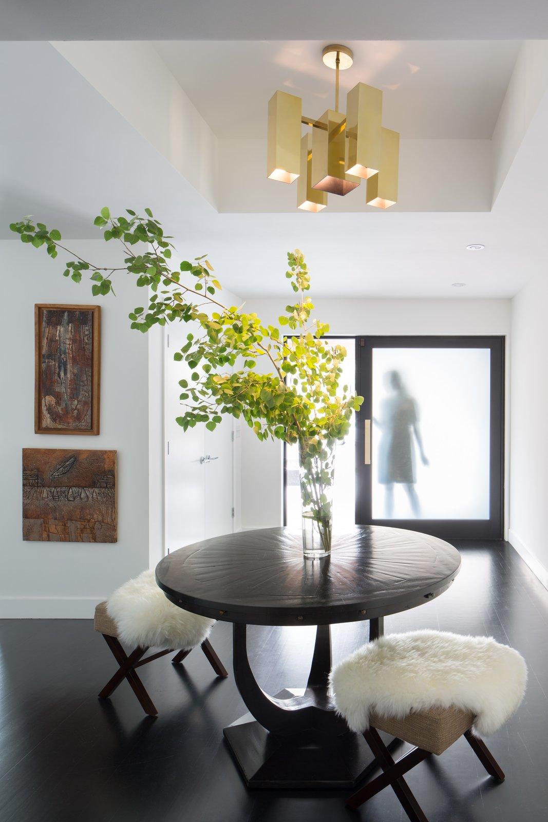 Hallway and Dark Hardwood Floor Entry  Donner Residence by Design Platform