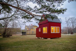 Baltic coast folding cabin