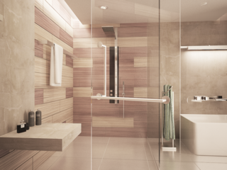 Geometric Perfection at the Center of this Minimalist Master Bathroom - Photo 4 of 4 - Competition: Master Bath, Texas