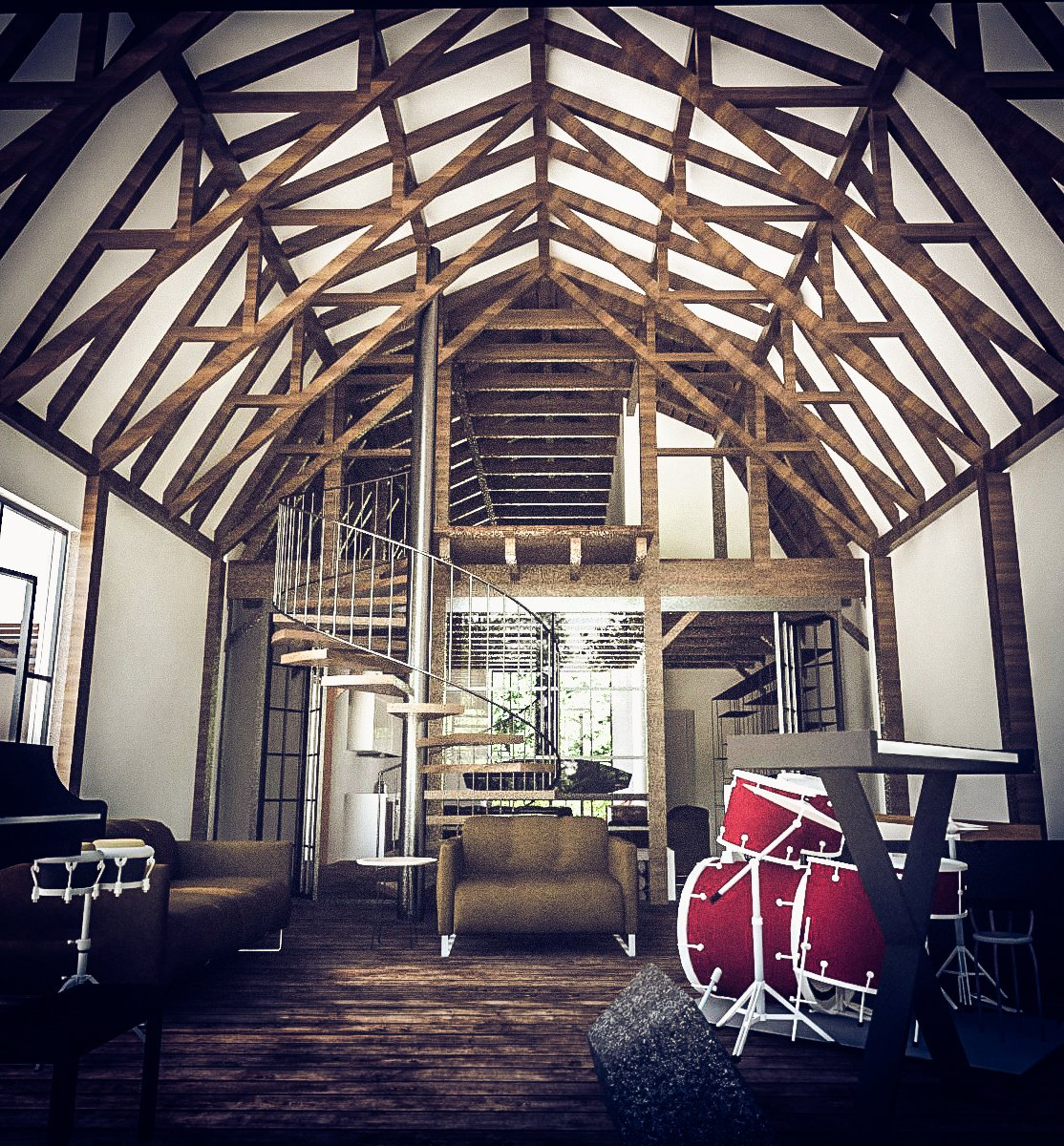 Competition: Modern Farmhouse  Photo 8 of 9 in This Farmhouse Design is a Modern-Day Fairytale from A Stunning Modern Farmhouse Design