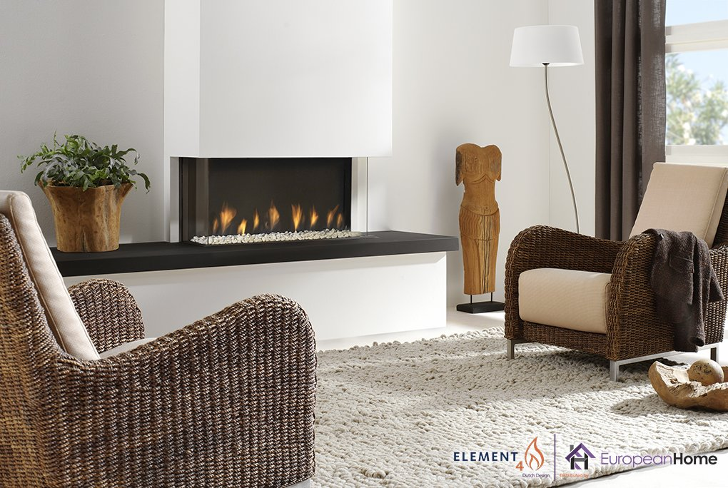 Trisore 95 3-Sided Gas Fireplace