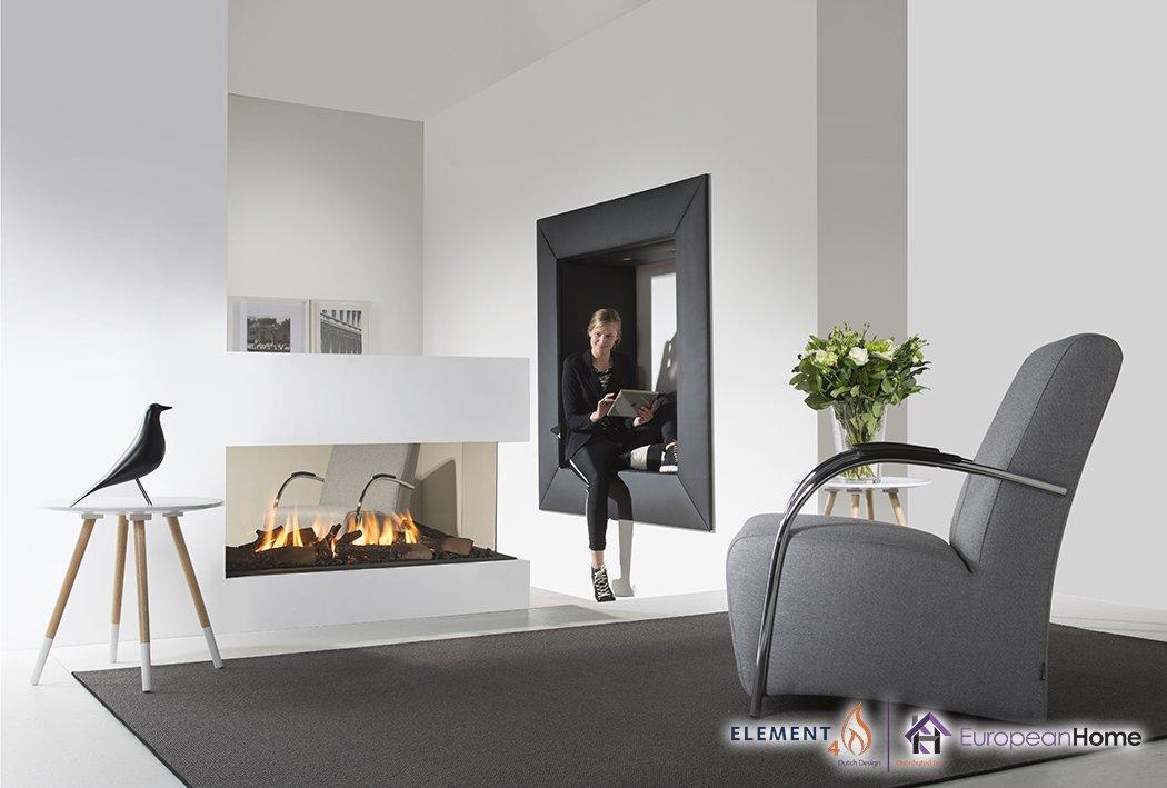 Lucius 100 Peninsula Gas Fireplace
