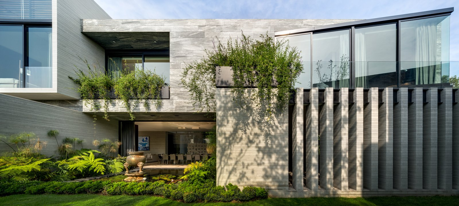 Exterior, House Building Type, and Concrete Siding Material  Casa O Cuatro by Migdal Arquitectos