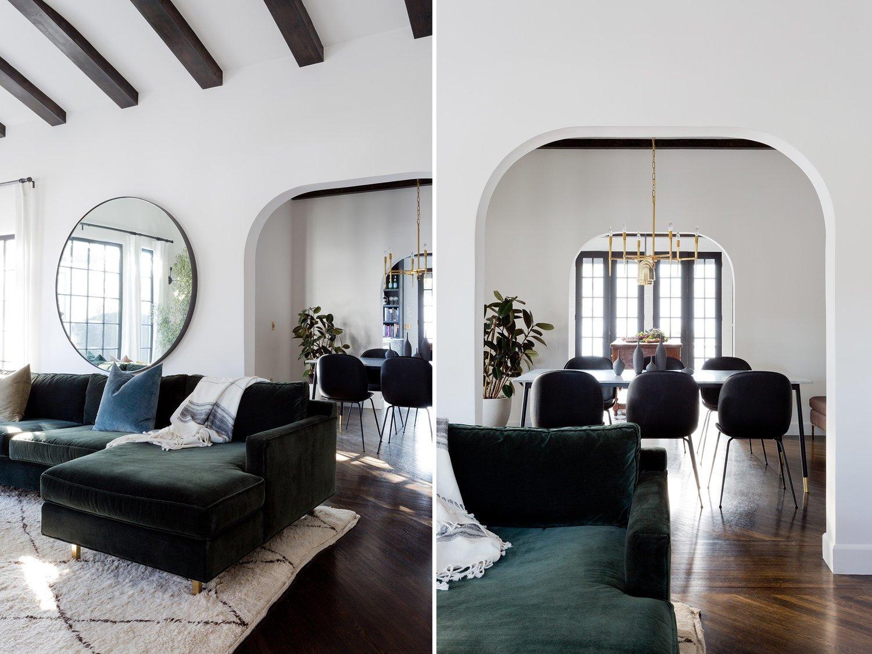 Living Room, Sectional, Sofa, Ceiling Lighting, Table, Chair, and Dark Hardwood Floor  Stearns Residence