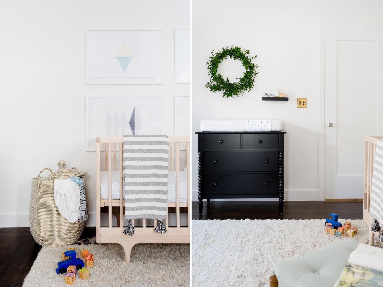 Bedroom, Bed, Dresser, Dark Hardwood Floor, and Ceiling Lighting  Stearns Residence