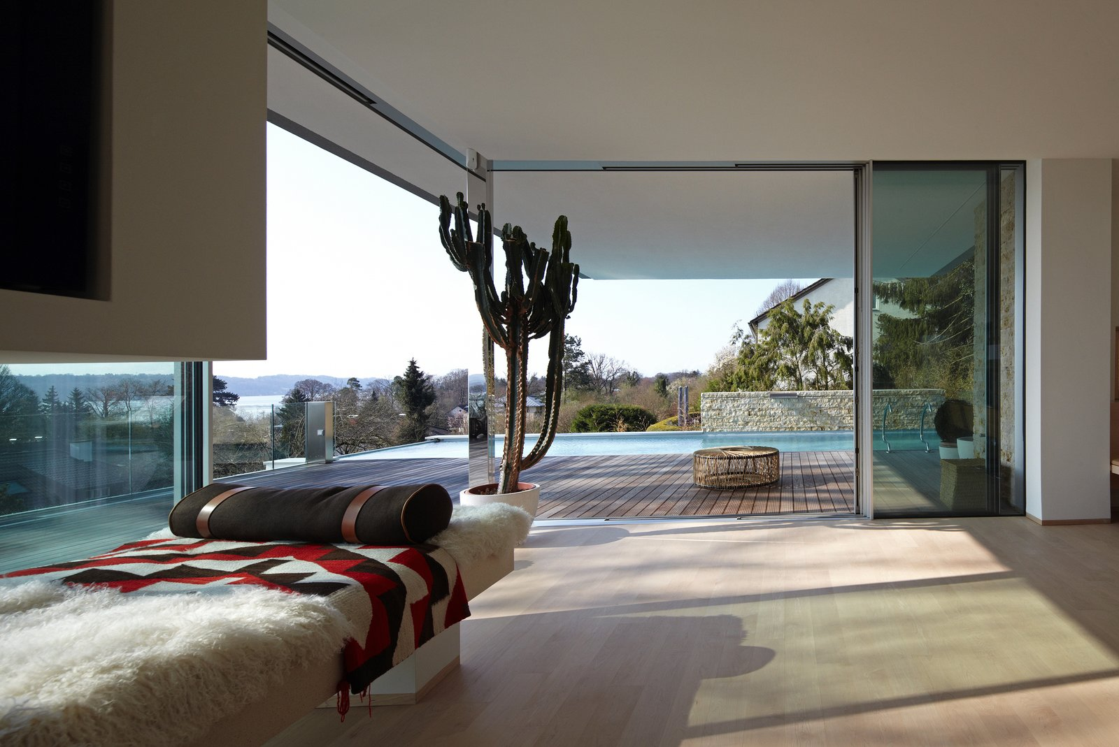 Living Room, Bench, and Light Hardwood Floor  House S by Stephan Maria Lang