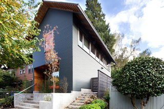 8 Modern In-Law Units - Photo 11 of 16 - Taking its cues from the traditional homes in the neighborhood, this Portland, Oregon, ADU features a deep entry that faces the street and serves as a modern interpretation of a front porch.