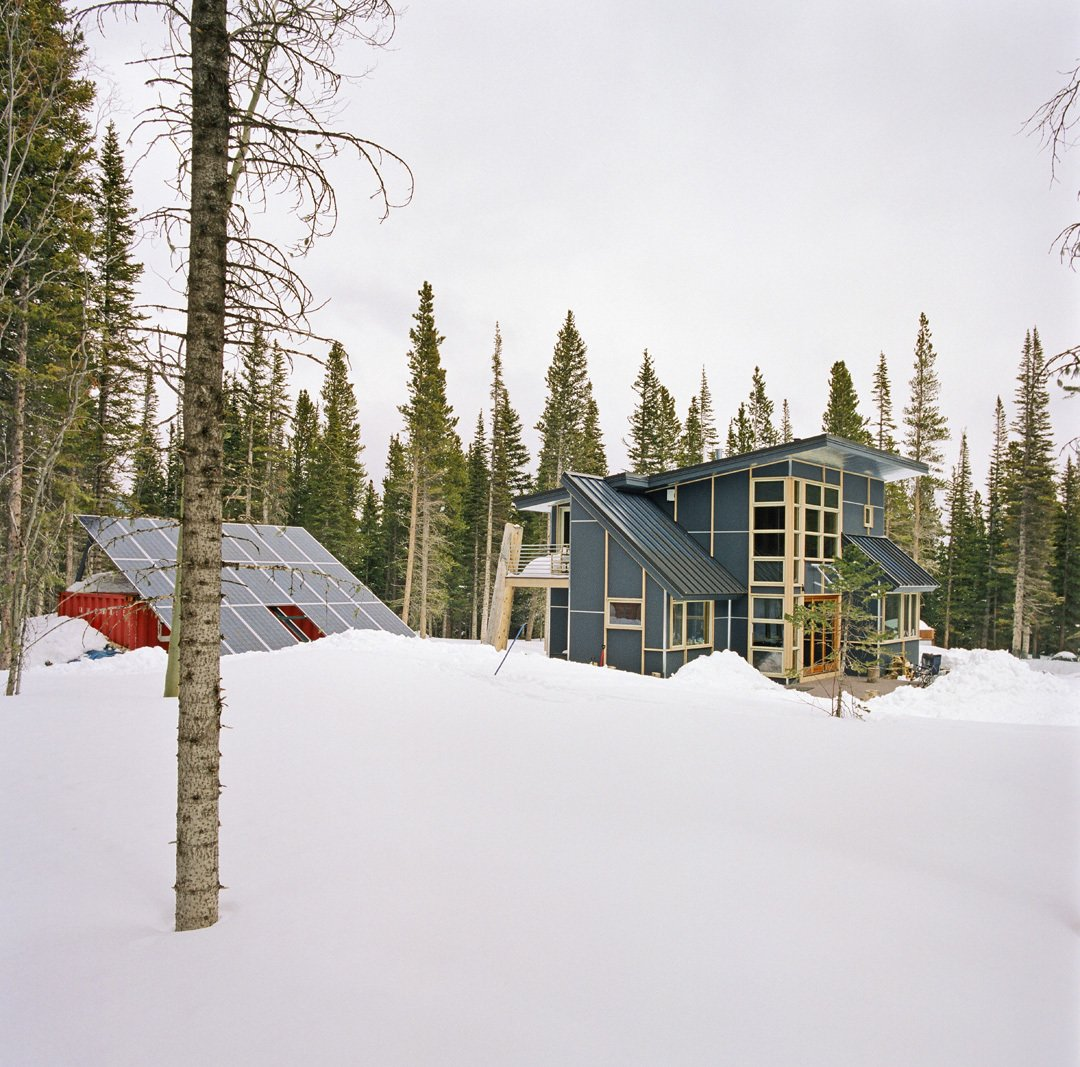 Exterior, Metal Roof Material, Cabin Building Type, and Shed RoofLine  Wee Ski Chalet by Barrett Studio Architects