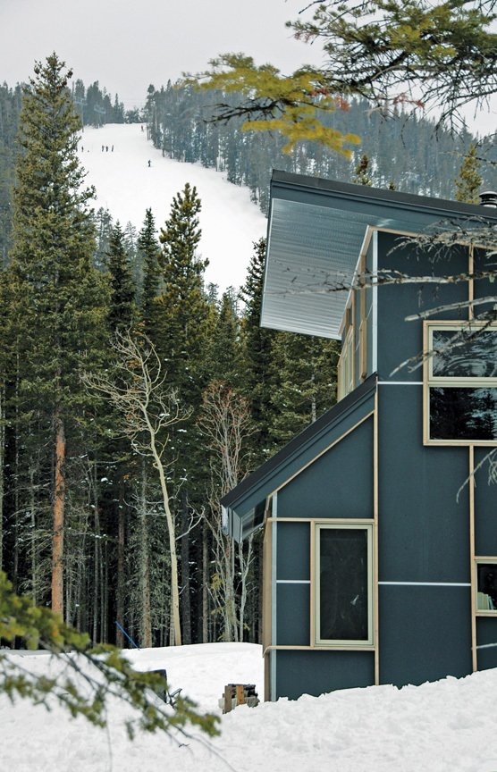 Exterior, Cabin Building Type, Metal Roof Material, and Shed RoofLine  Wee Ski Chalet by Barrett Studio Architects