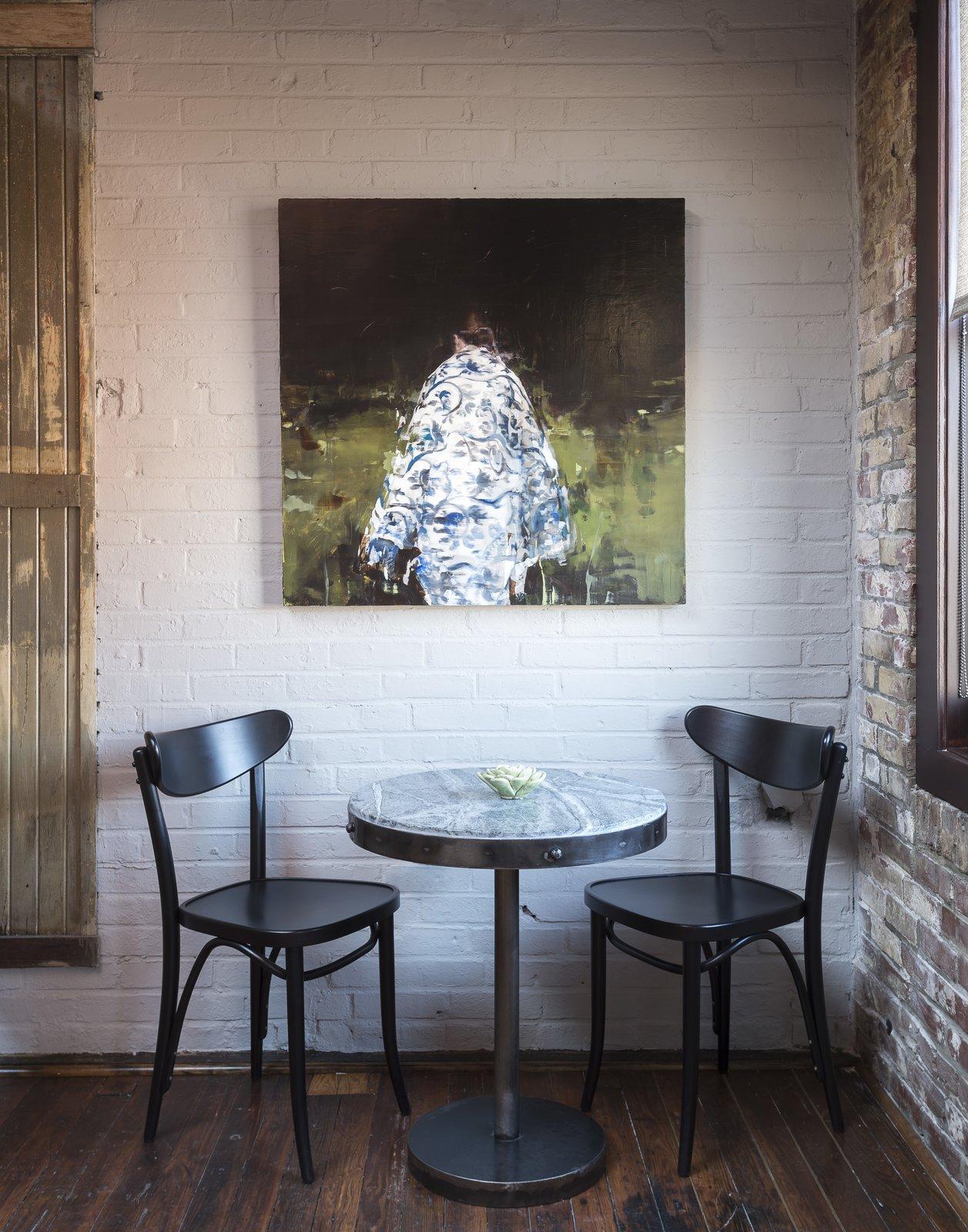 Dining Room, Chair, and Light Hardwood Floor  Mulherin's Hotel