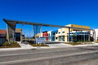 A Unique Gateway Structure Shopping Center at Garden Grove, CA