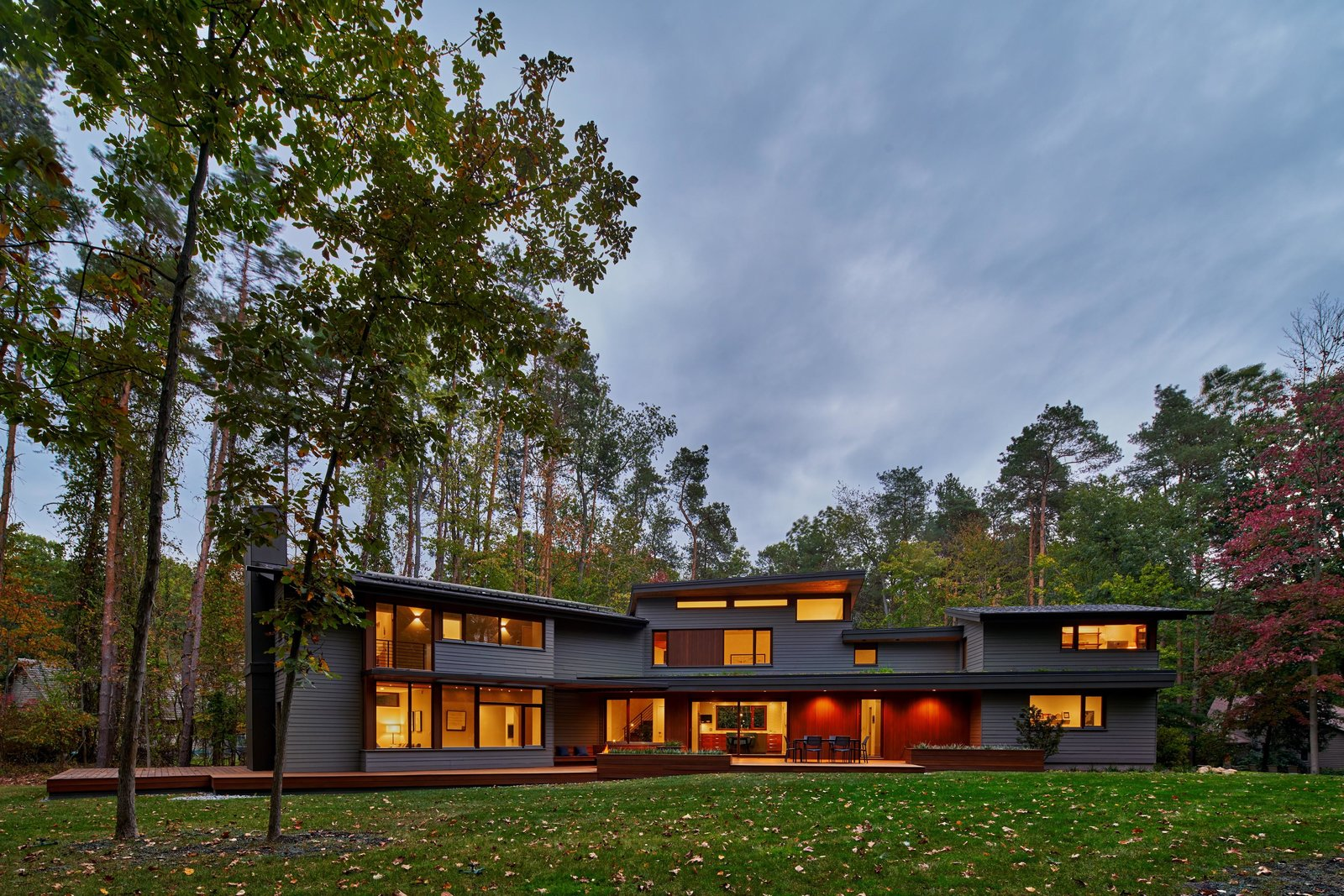 Exterior, Green Roof Material, House Building Type, Wood Siding Material, and Flat RoofLine  Deer Haven Residence by Mathison I Mathison Architects