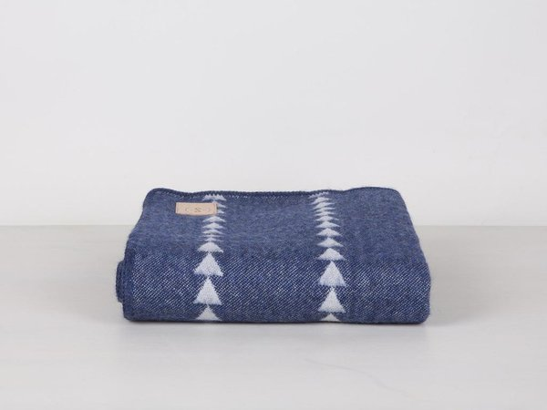 Indigo Arrowhead Alpaca Throw