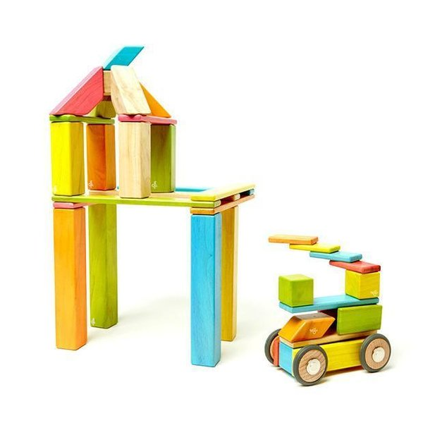 Tints 42-Piece Magnetic Wooden Block Set