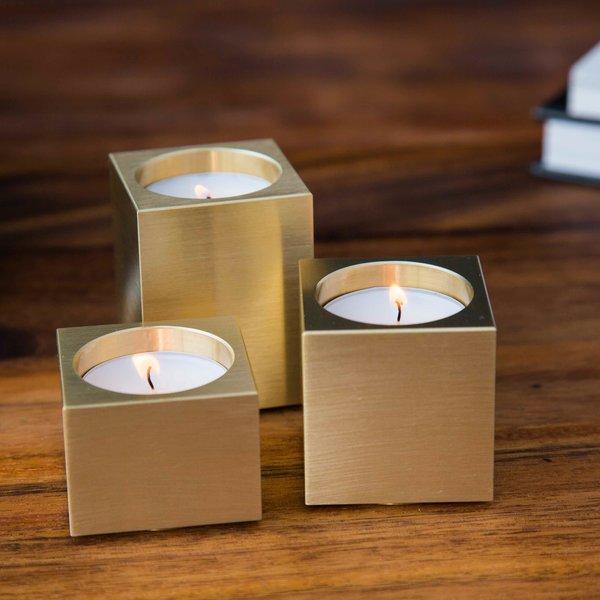 Square Votive Triptych Candleholders Set