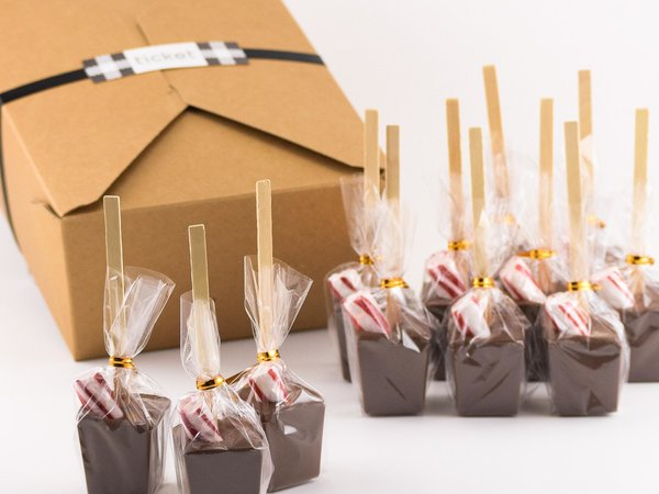 Peppermint Hot Chocolate On a Stick Set
