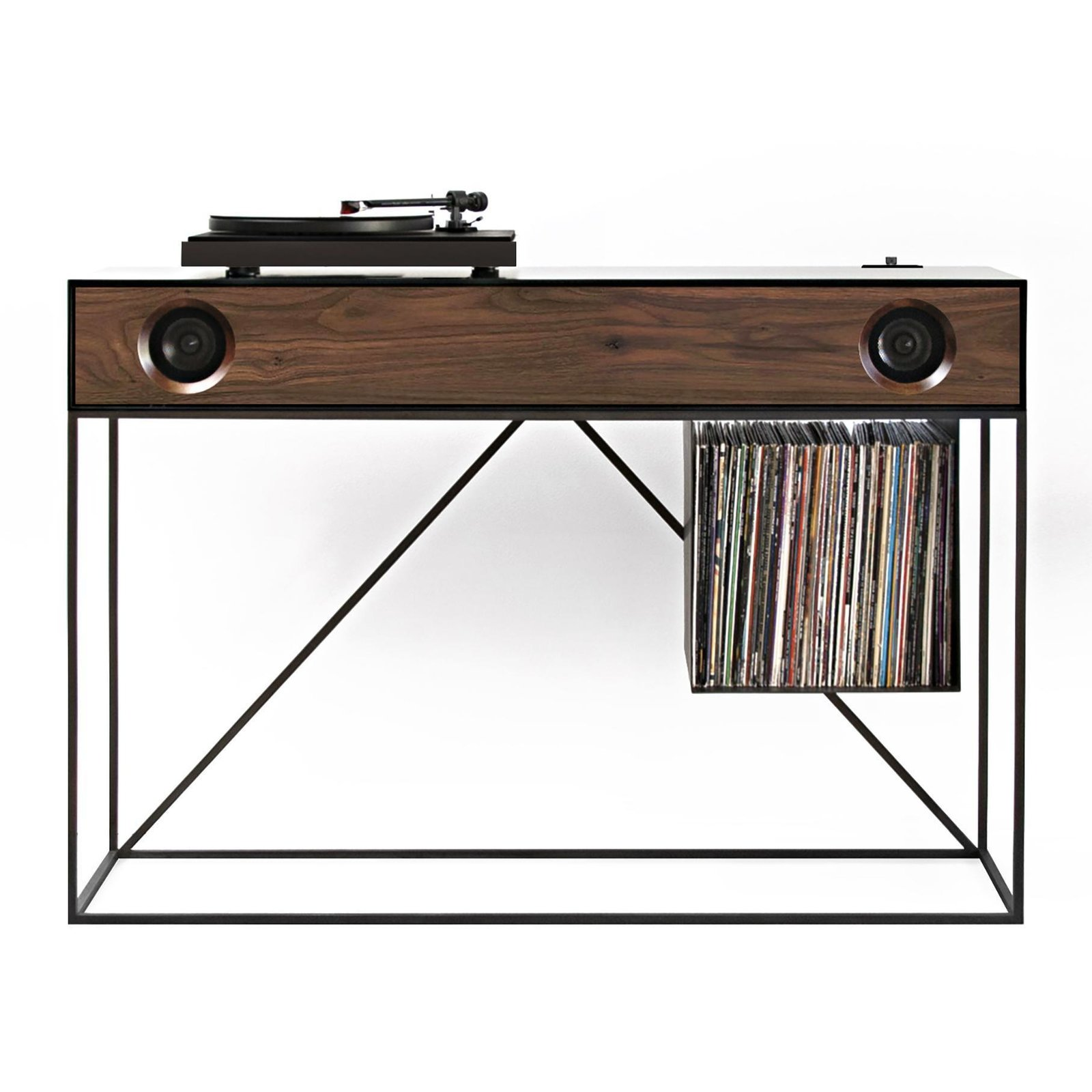 Symbol Audio Stereo Console Table with Speakers by AHA Dwell