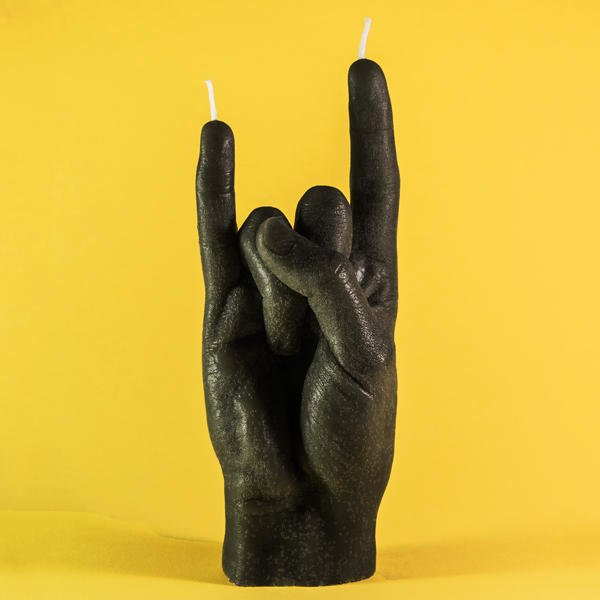"""You Rock!"" Hand Candle (Set of 2)"