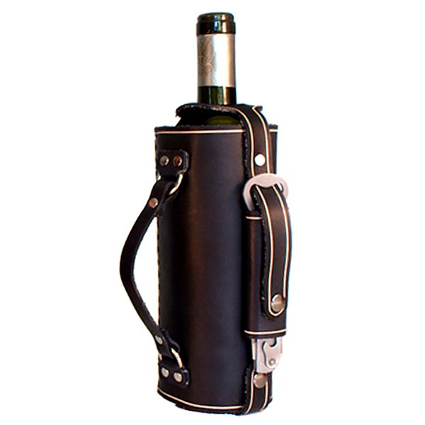Leather Wine Bottle Holder With Carrying Handle