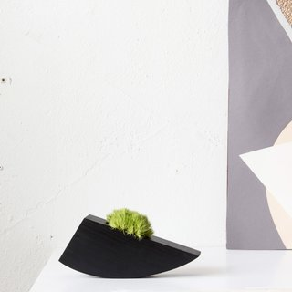 Ebonized Succulent Planter