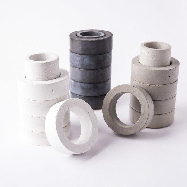 Concrete Napkin Ring / Toothpick Holder Set