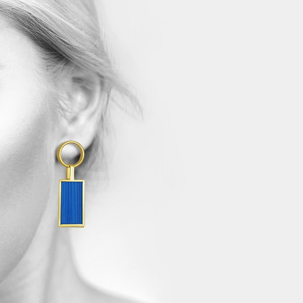 Blue Cecim Earrings