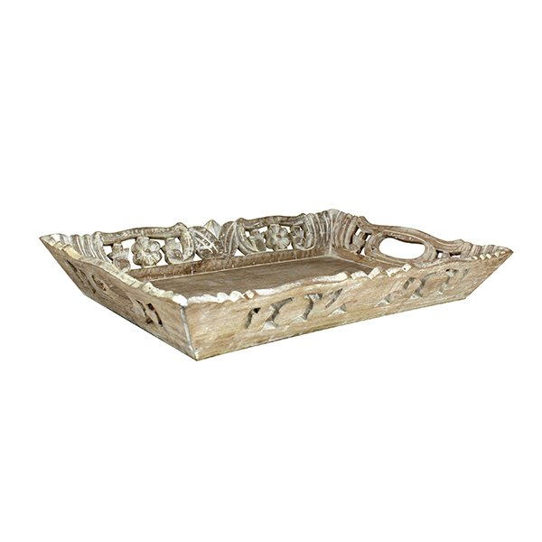 Wisteria Distressed Ivory Tray