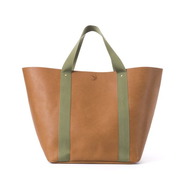 Leather Travel Tote Bag