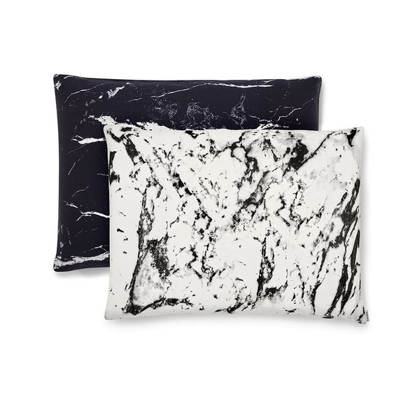 Queen Marble Silk Pillowcases (Set of 2)