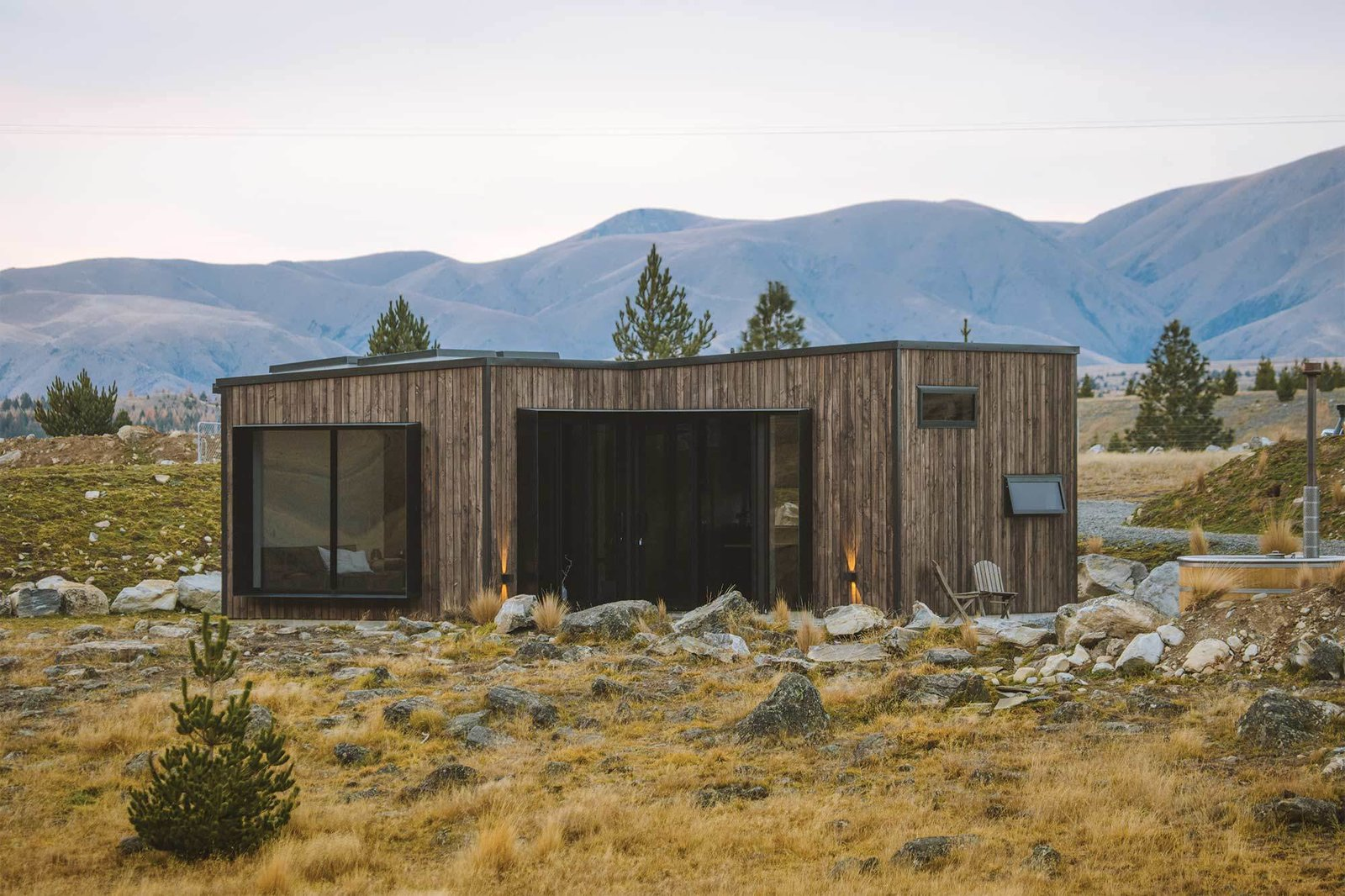 Exterior, Cabin Building Type, and Wood Siding Material  Alpine Cube