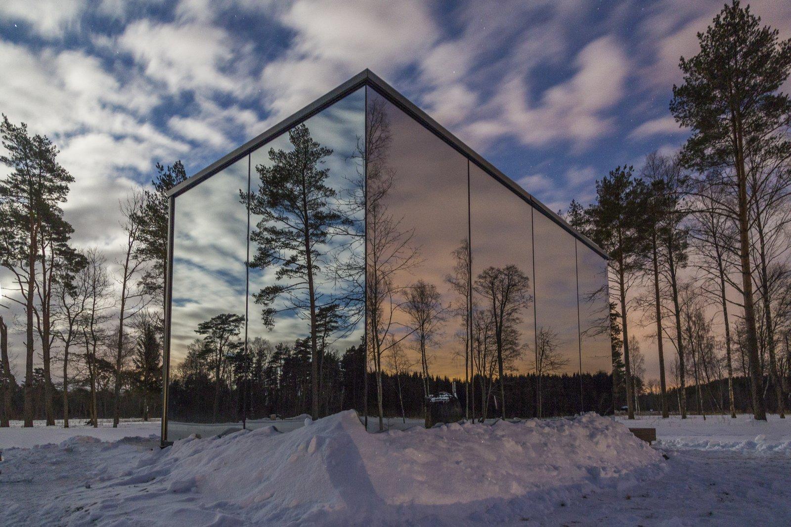 Exterior, Beach House, House, Wood, Prefab, Cabin, Flat, and Glass  Best Exterior Wood House Glass Cabin Flat Beach House Photos from ÖÖD hotel in Estonia Jõeranna Residences