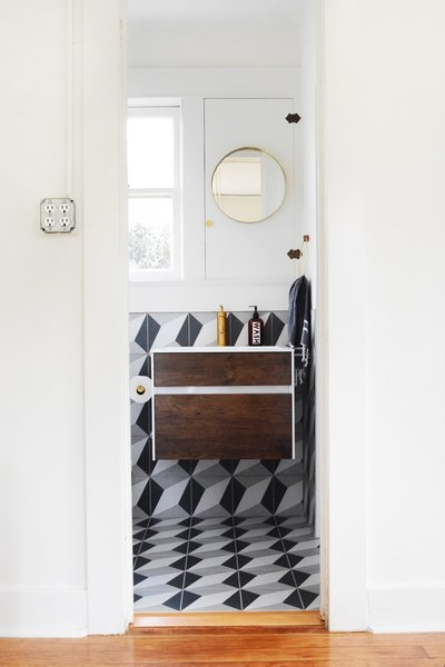 Photo 6 of 10 in A Small 1920s Guesthouse Bathroom Gets A Modern Makeover