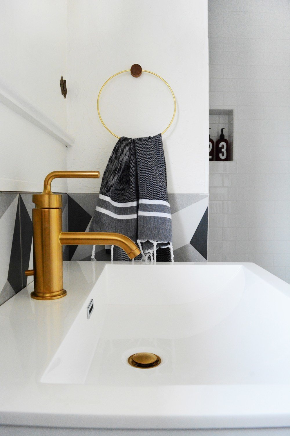 Photo 10 of 10 in A Small 1920s Guesthouse Bathroom Gets A Modern Makeover