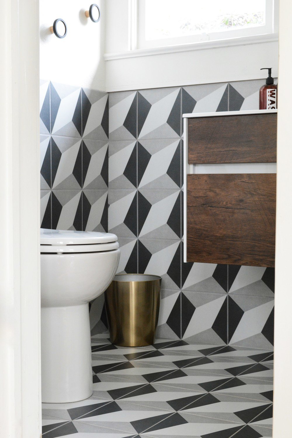 Photo 5 of 10 in A Small 1920s Guesthouse Bathroom Gets A Modern Makeover