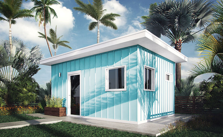 Tiny Pacific Houses is the brainchild of Hawaii-born Brandon Hardin, who saw the trend gaining popularity in the Pacific Northwest.  Photo 1 of 8 in 8 Inspirational Island Prefabs from 10 Tiny Happy Hawaiian Huts