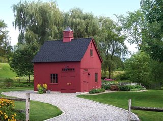 No countryside is complete without the sight of a classic red barn. Country Carpenters delivers pre-engineered, pre-cut, and color-coded post-and-beam beam building kits to most states in the U.S.